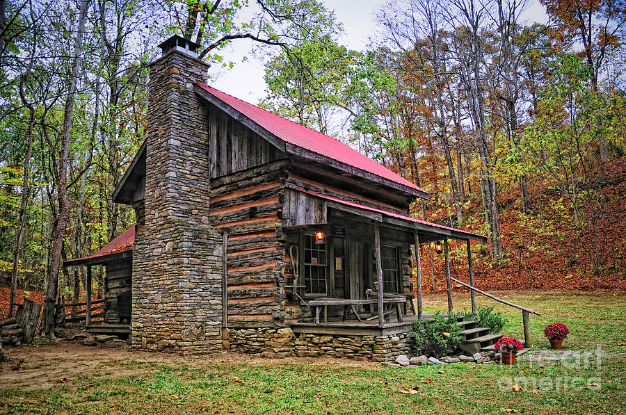 Log Home Renfro Valley Ky Photograph By Anne Kitzman