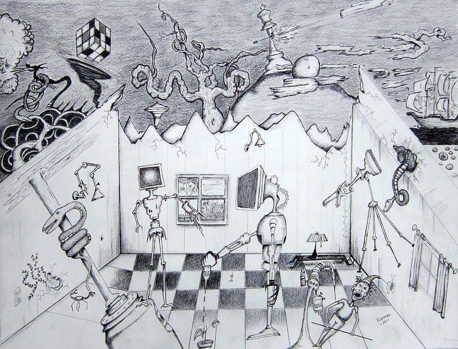Robots Drawing - Loganville by Dan Twyman