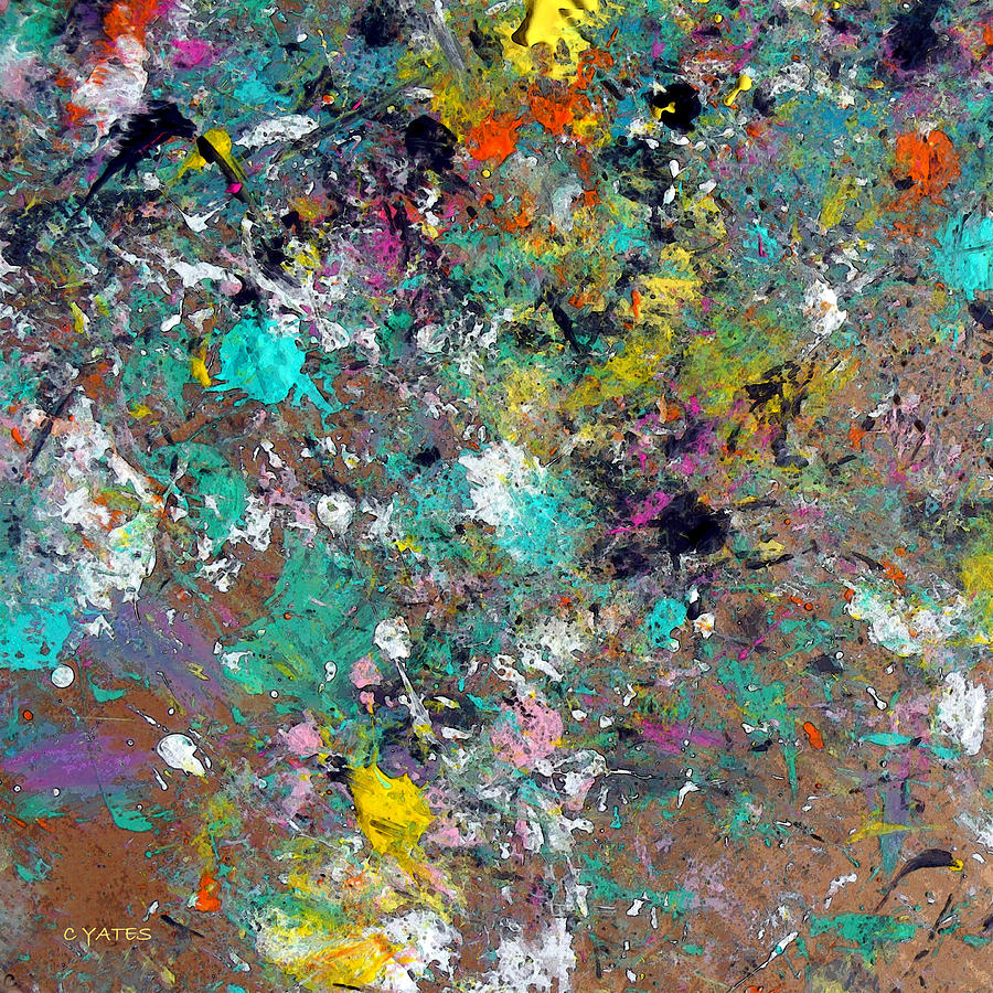 Abstract Painting - Lutetium by Charles Yates