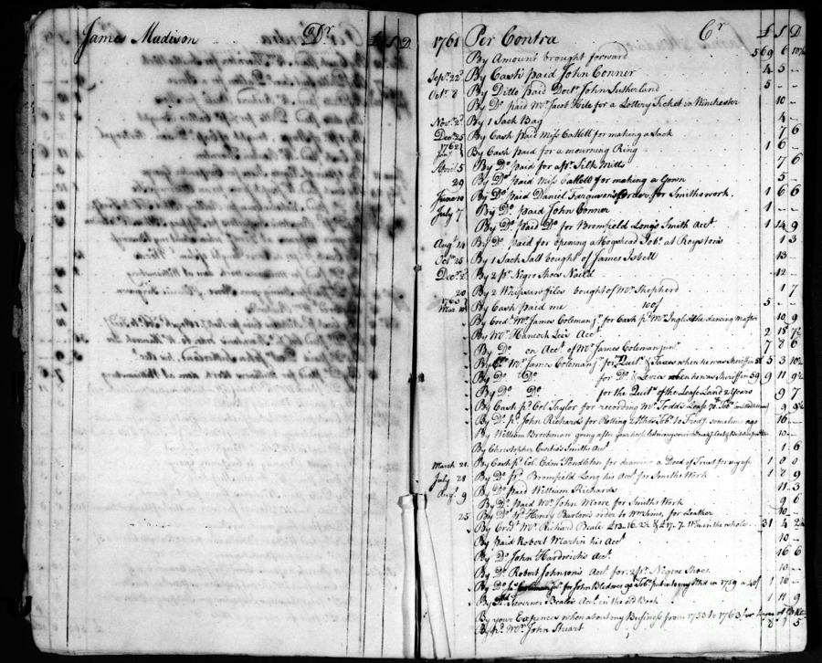 1761 Photograph - Madison: Account Book by Granger