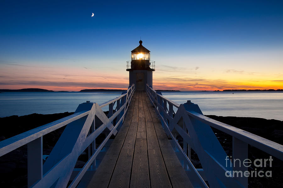 Lighthouse Photograph - Marshall Point Light by Brian Jannsen