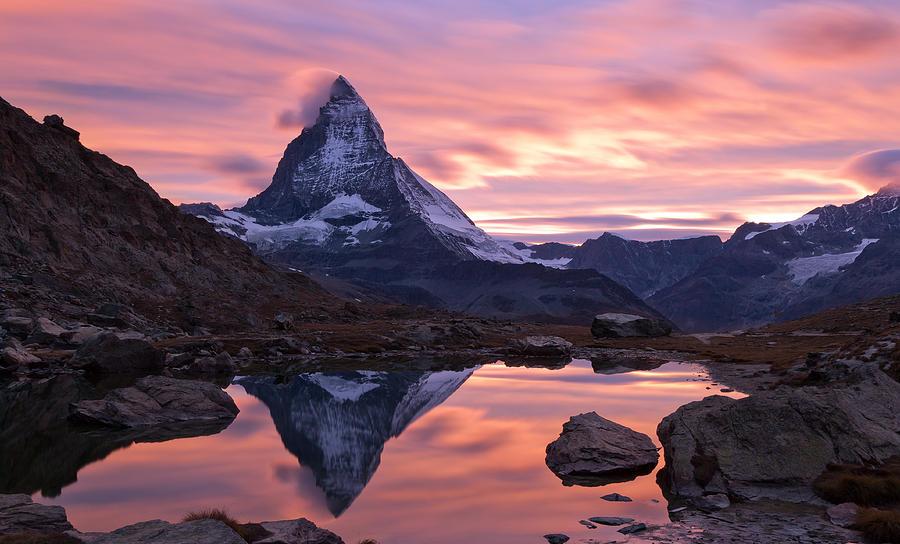 Matterhorn Photograph - Matterhorn Sunset by Mark Haley