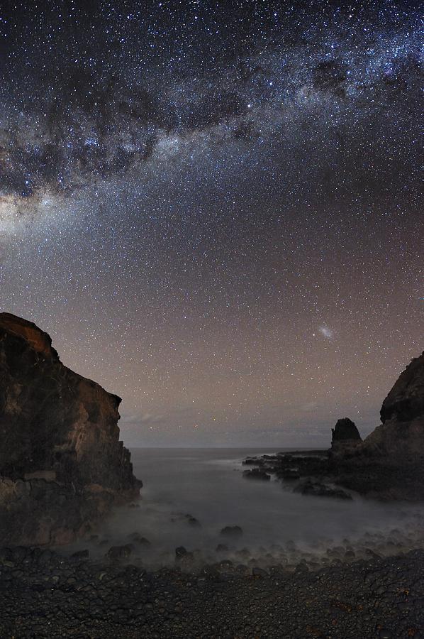 Milky Way Photograph - Milky Way Over Cape Schanck, Australia by Alex Cherney, Terrastro.com