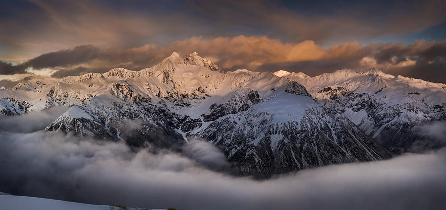Mount Rolleston At Dawn Arthurs Pass Np Photograph by Colin Monteath