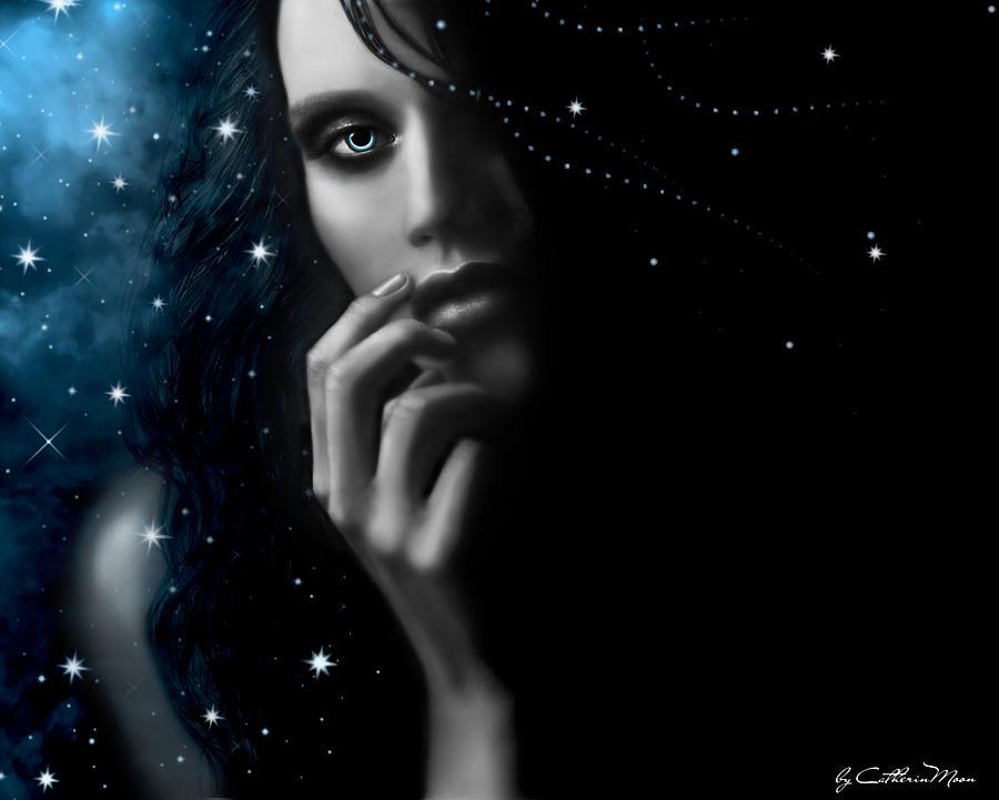 Stars Digital Art - Mystery by Catherin Moon