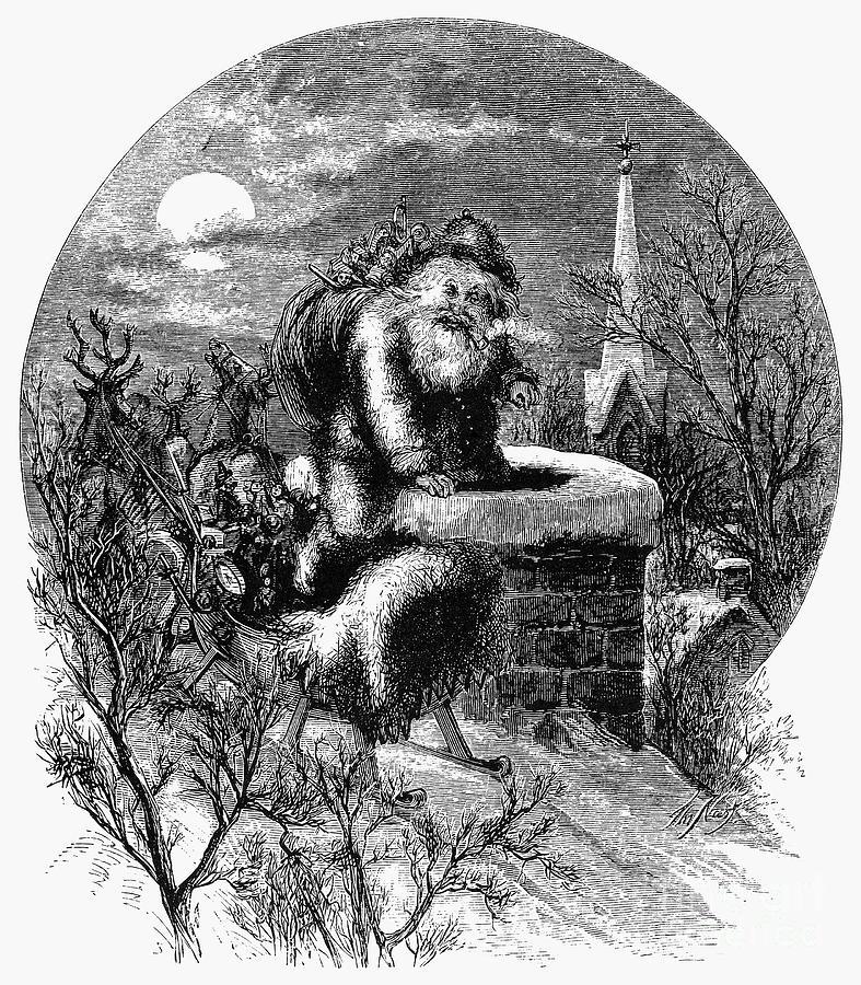 1863 Photograph - Nast: Santa Claus by Granger