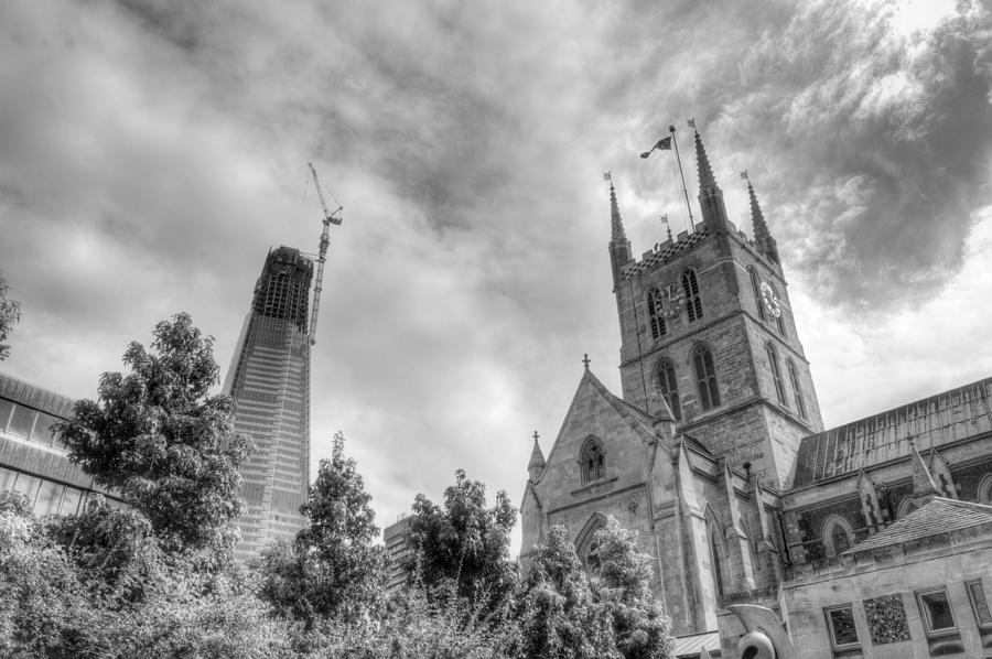 Shard Photograph - New and Old by Chris Day