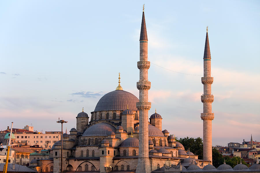 Mosque Photograph - New Mosque In Istanbul by Artur Bogacki
