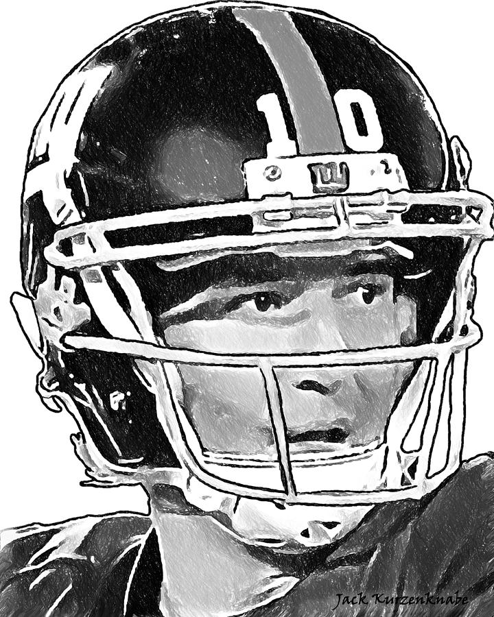 New York Giants Digital Art - New York Giants  Eli Manning by Jack K
