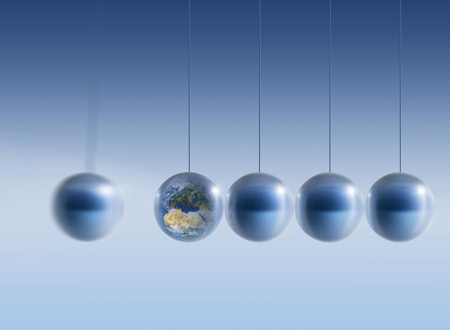 Earth Photograph - Newtonian Earth, Conceptual Artwork by Detlev Van Ravenswaay