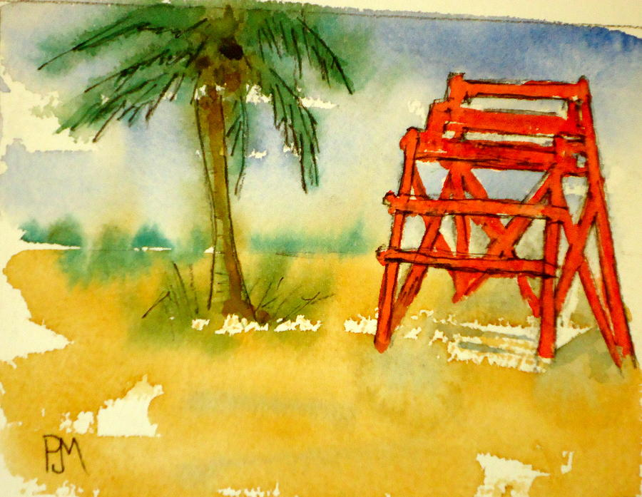 Palm Tree Painting - Off Guard by Pete Maier