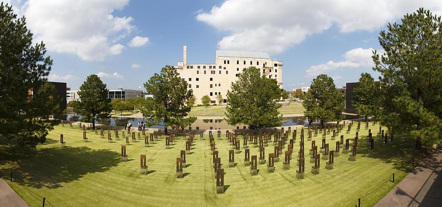 National Photograph - Oklahoma City National Memorial by Ricky Barnard