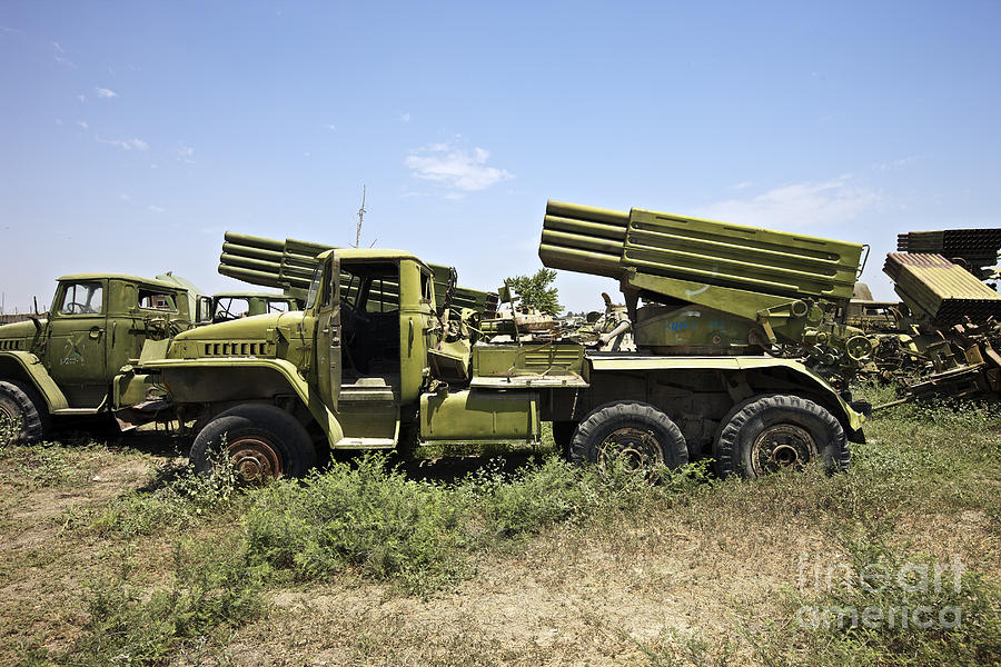 War Photograph - Old Russian Bm-21 Launch Vehicle by Terry Moore