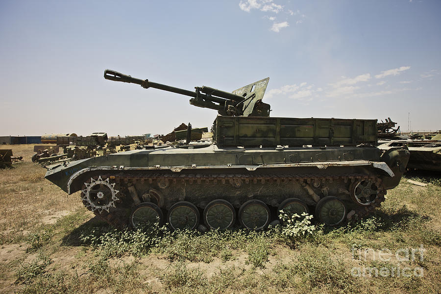 Army Photograph - Old Russian Bmp-1 Infantry Fighting by Terry Moore