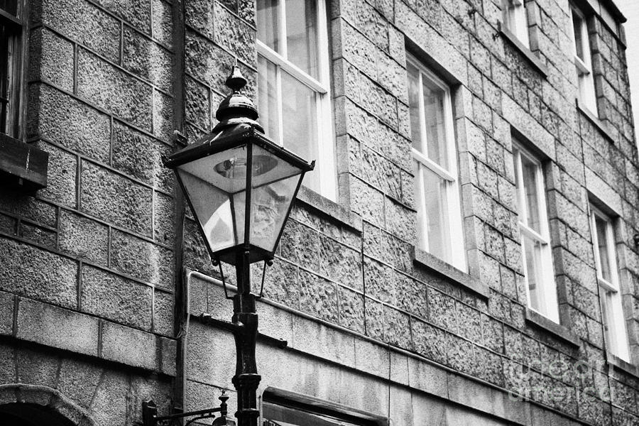 Old Photograph - Old Sugg Gas Street Lights Converted To Run On Electric Lighting Aberdeen Scotland Uk by Joe Fox