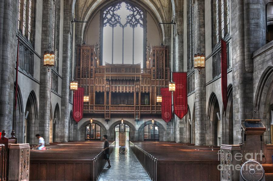 Hdr Photograph - Organ Loft by David Bearden