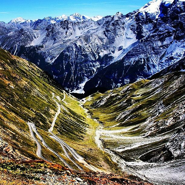 Alps Photograph - Passo Stelvio by Luisa Azzolini