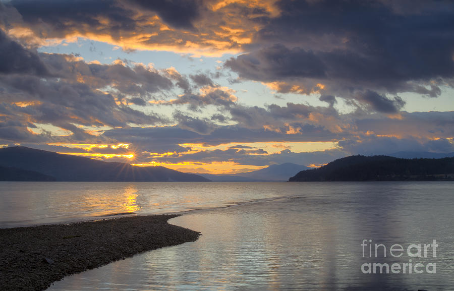 Sunset Photograph - Pend Oreille Sunset by Idaho Scenic Images Linda Lantzy