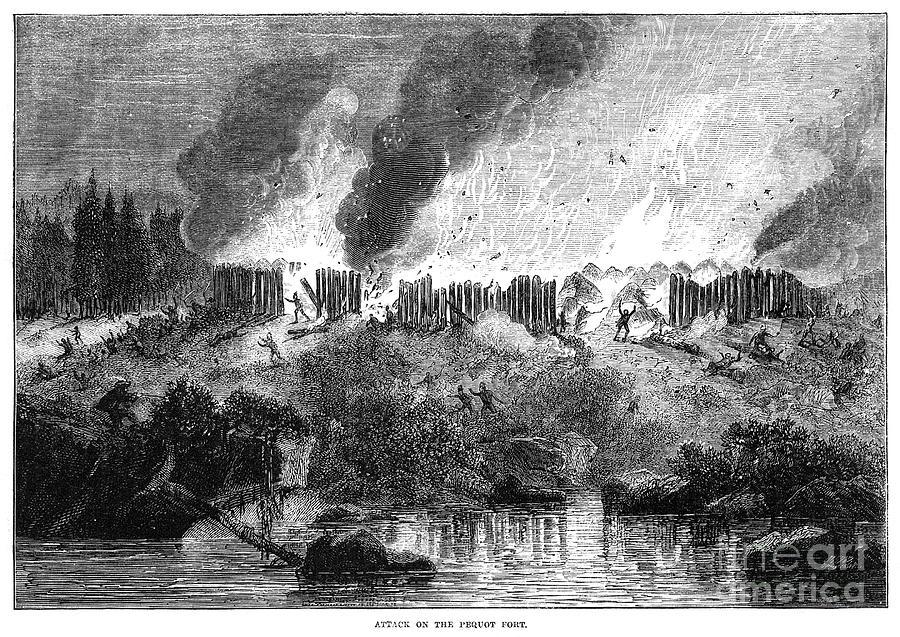Pequot Massacre 1637 Photograph By Granger