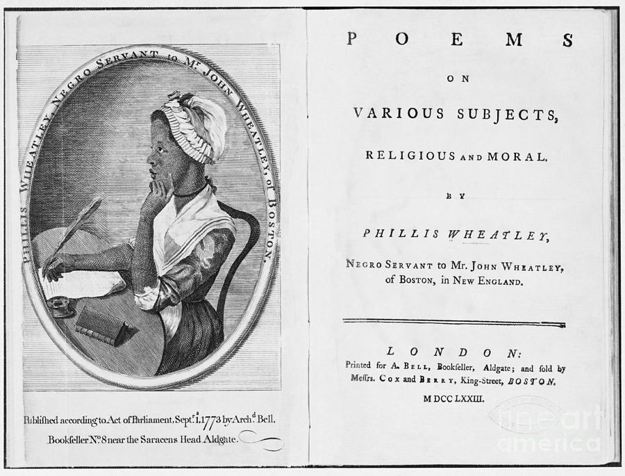 History Photograph - Phillis Wheatley, African-american Poet by Photo Researchers