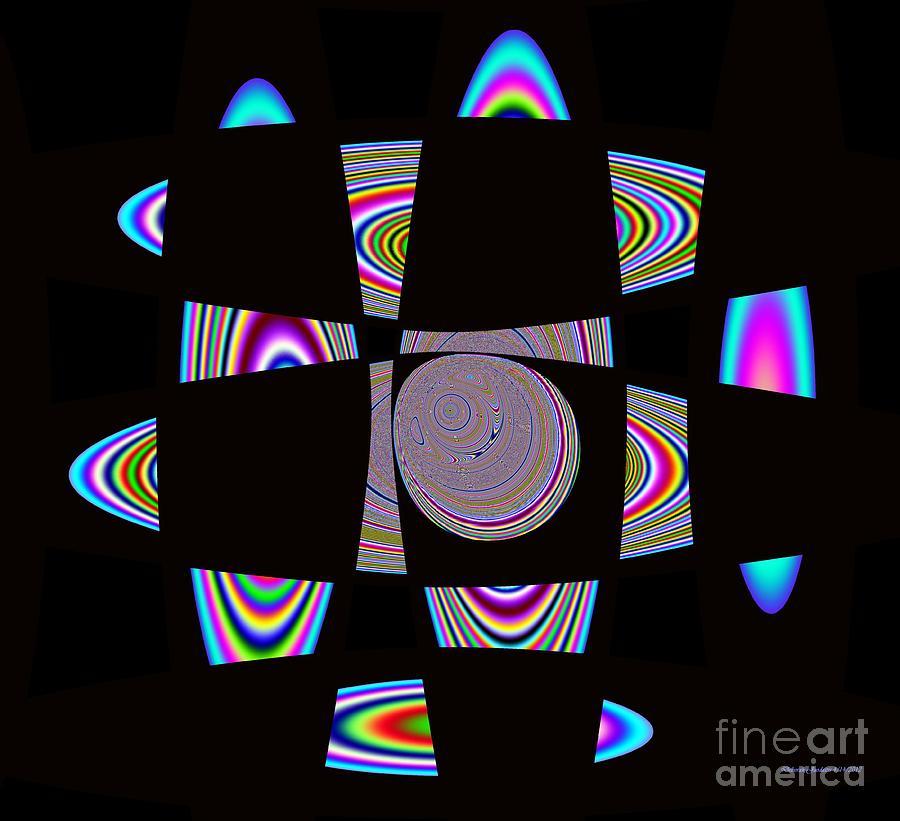 Solar System Digital Art - Planetary Rings Maze by Deborah Juodaitis