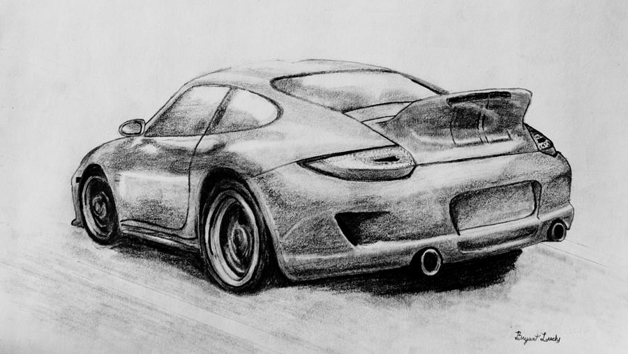 Porsche Sport Classic Drawing By Bryant Luchs