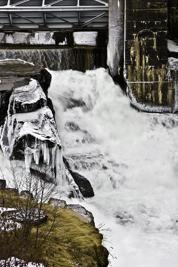 Dam Photograph - Post Falls Dam by Grover Woessner