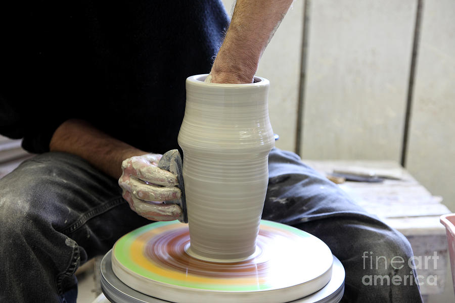 Clay Photograph - Pottery Wheel, Sequence by Ted Kinsman