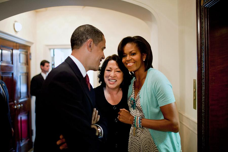 History Photograph - President And Michelle Obama by Everett