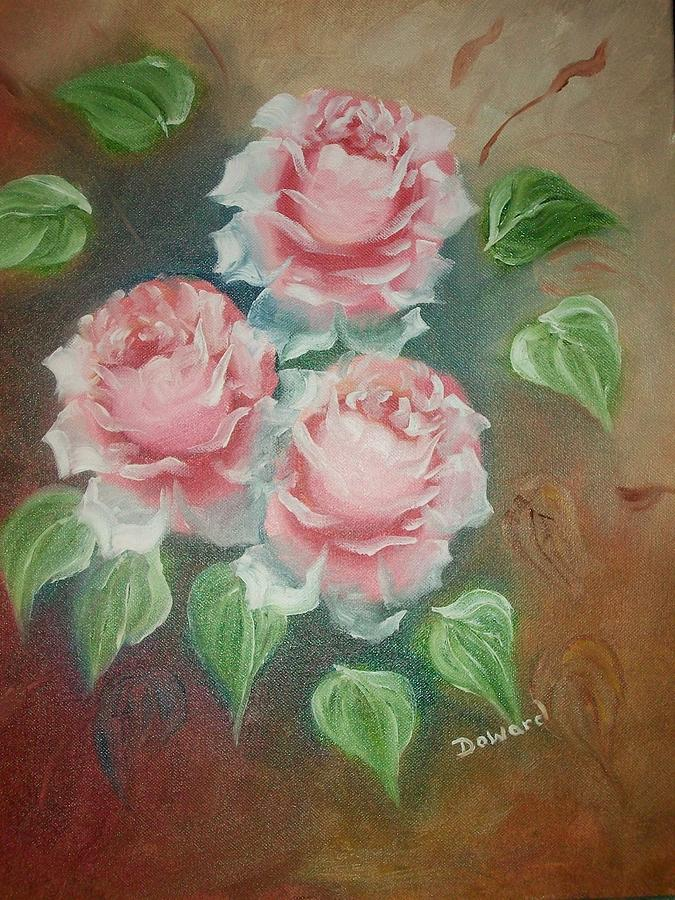 Red Roses Mixed Media - Red Roses by Raymond Doward