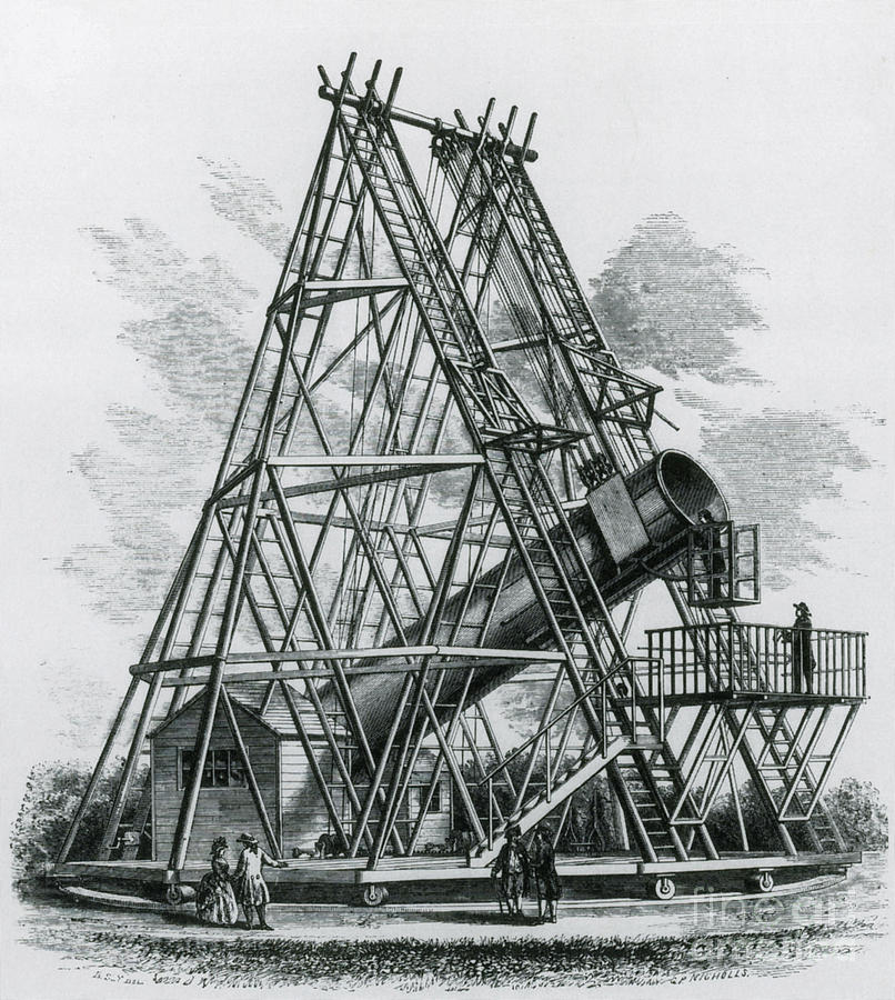 Science Photograph - Reflecting Telescope, 1789 by Science Source