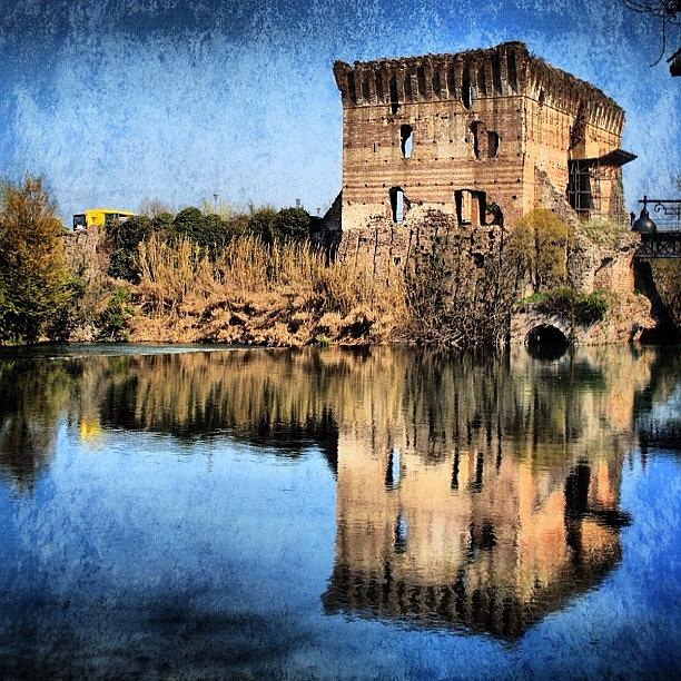 Blue Photograph - Reflection by Luisa Azzolini