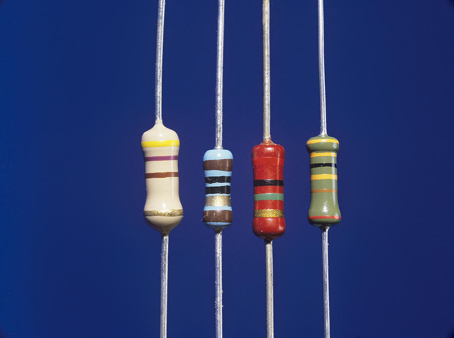 Component Photograph - Resistors by Andrew Lambert Photography