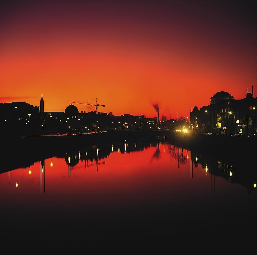 Atmosphere Photograph - River Liffey, Dublin, Co Dublin, Ireland by The Irish Image Collection