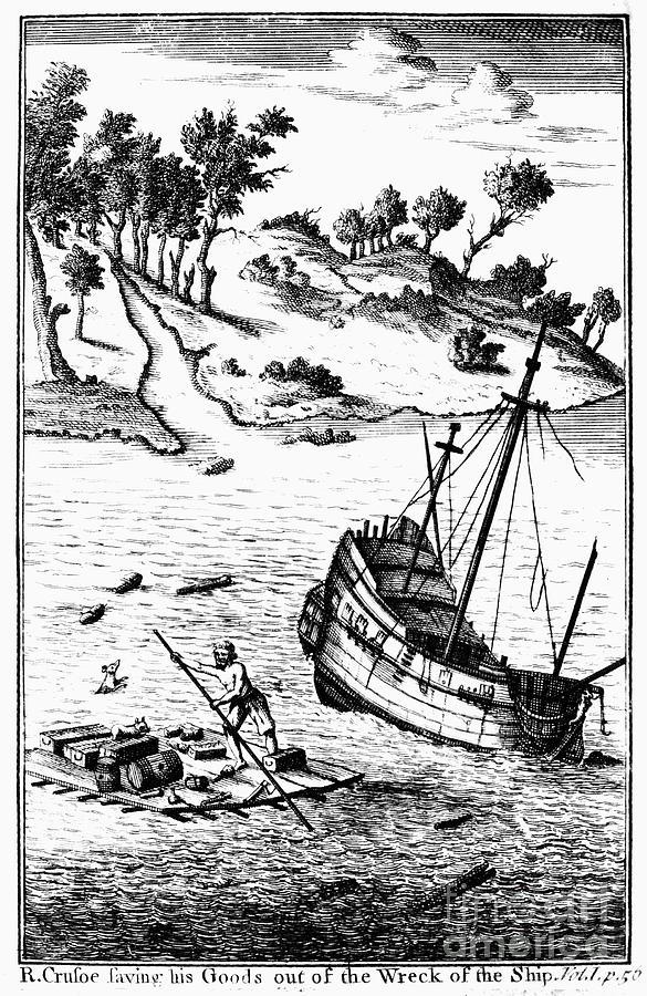 1722 Photograph - Robinson Crusoe by Granger