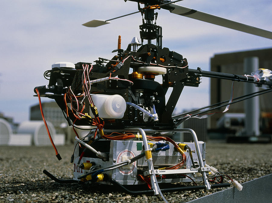 X-cell 60 Photograph - Robotic Helicopter by Volker Steger