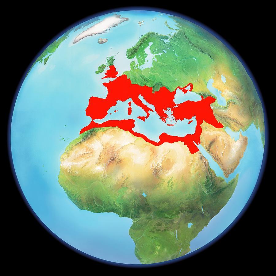 Planet Photograph - Roman Empire, Artwork by Gary Hincks