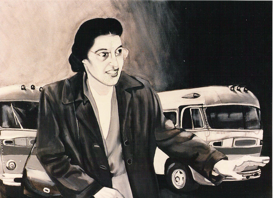 Rosa Parks Painting by Howard Stroman