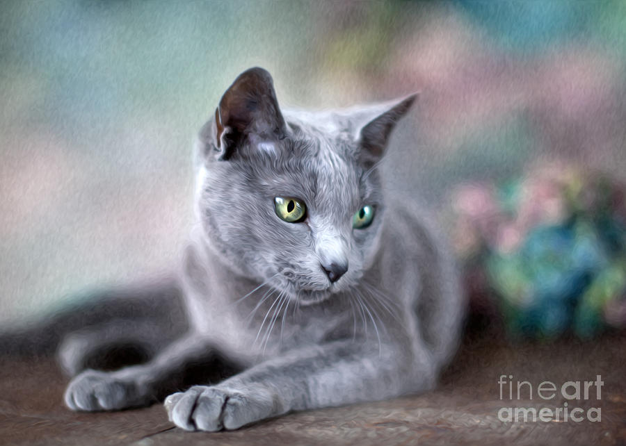 Russian Blue Painting