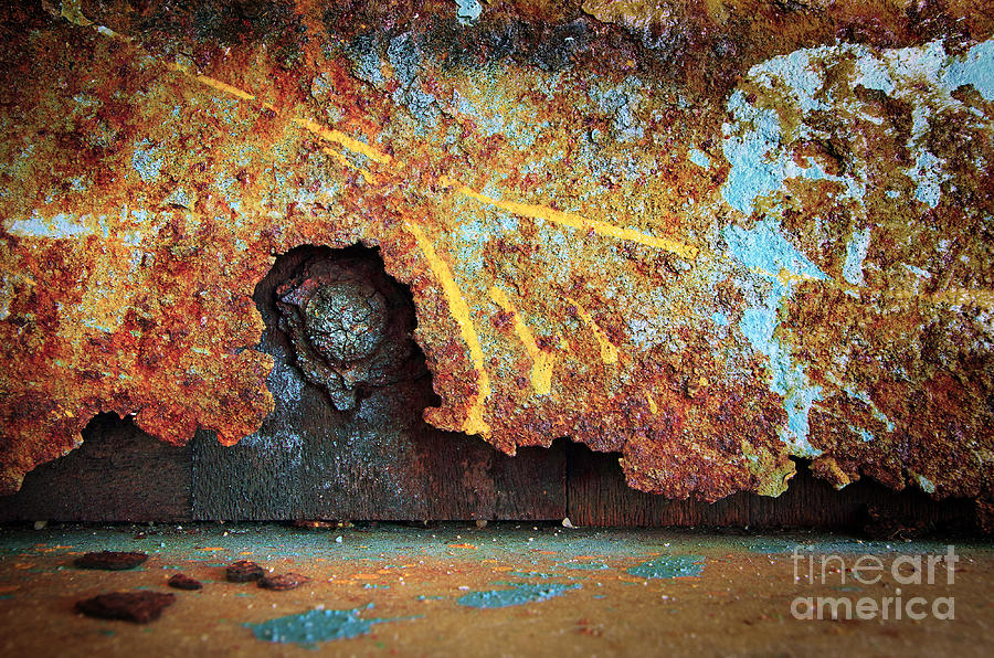 Abandoned Photograph - Rust Background by Carlos Caetano