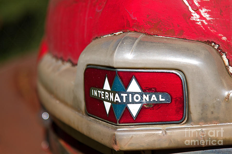 Rusted Antique International Car Brand Ornament Photograph By ELITE - International car