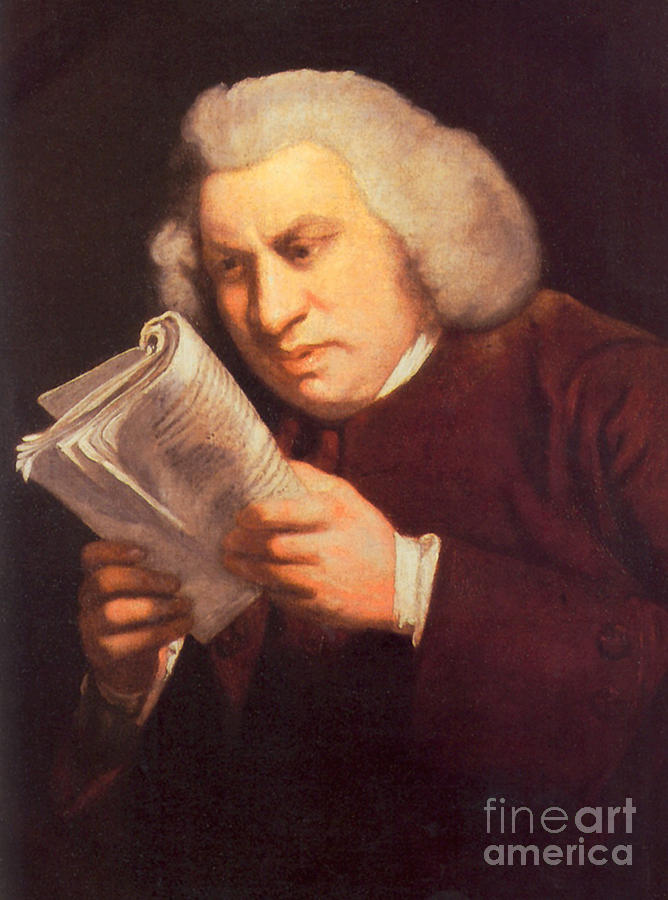 History Photograph - Samuel Johnson, English Author by Photo Researchers