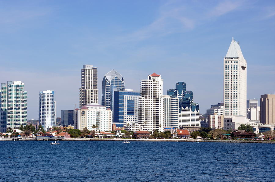 San Diego Photograph - San Diego Skyline by Jeff Lowe