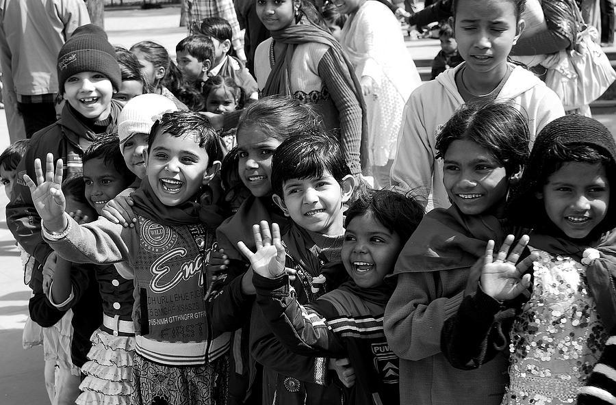 School Kids Photograph - School Kids by Abhilash G Nath