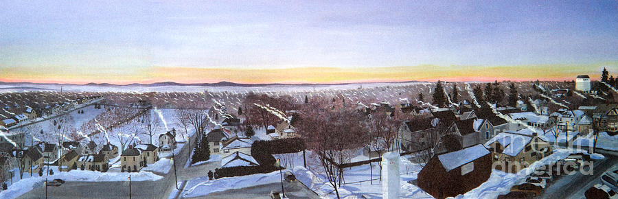 Winter Landscape Painting - Sentinels At Dawn by Stella Sherman