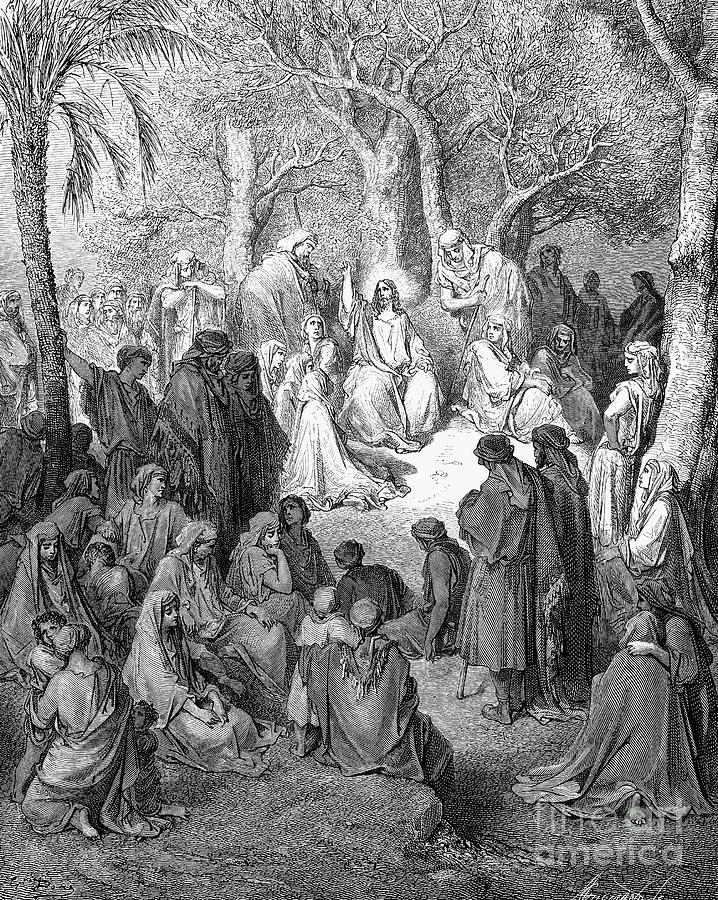 19th Century Photograph - Sermon On The Mount by Granger