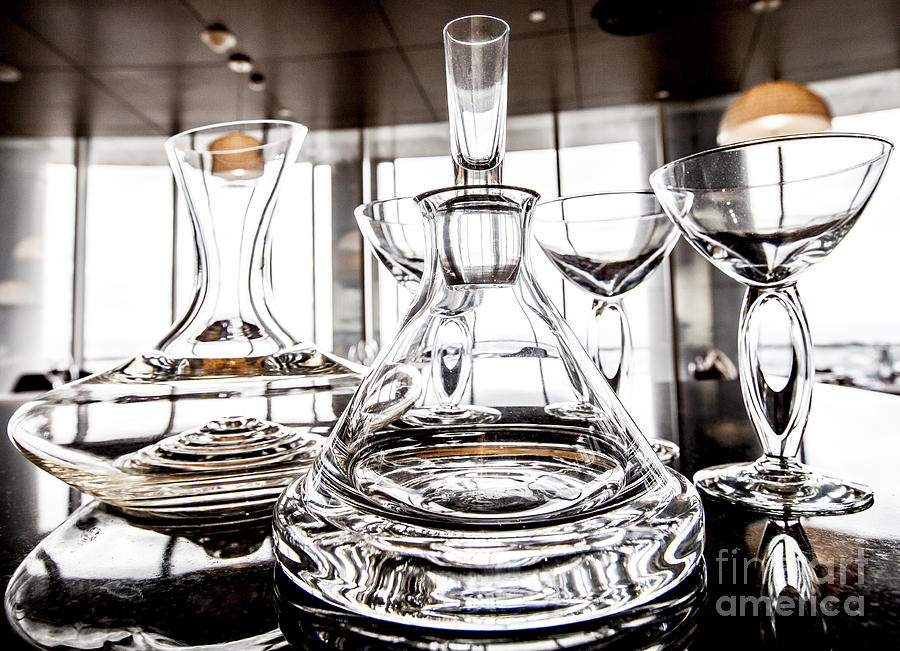 Alcohol Photograph - Shadow Of Luxury Glass by Chavalit Kamolthamanon