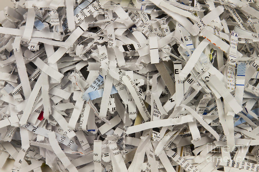 Shred Photograph - Shredded Paper by Blink Images