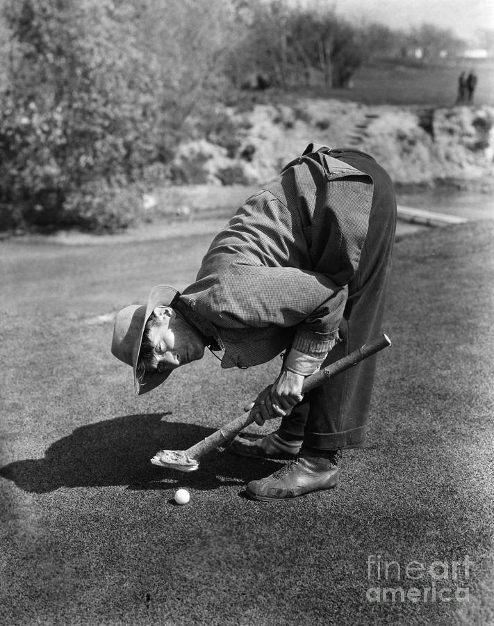 1926 Photograph - Silent Film Still: Golf by Granger