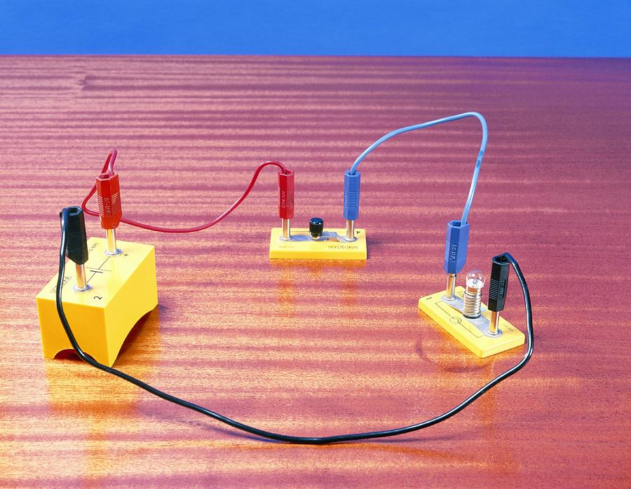 Equipment Photograph - Simple Electrical Circuit by Andrew Lambert Photography